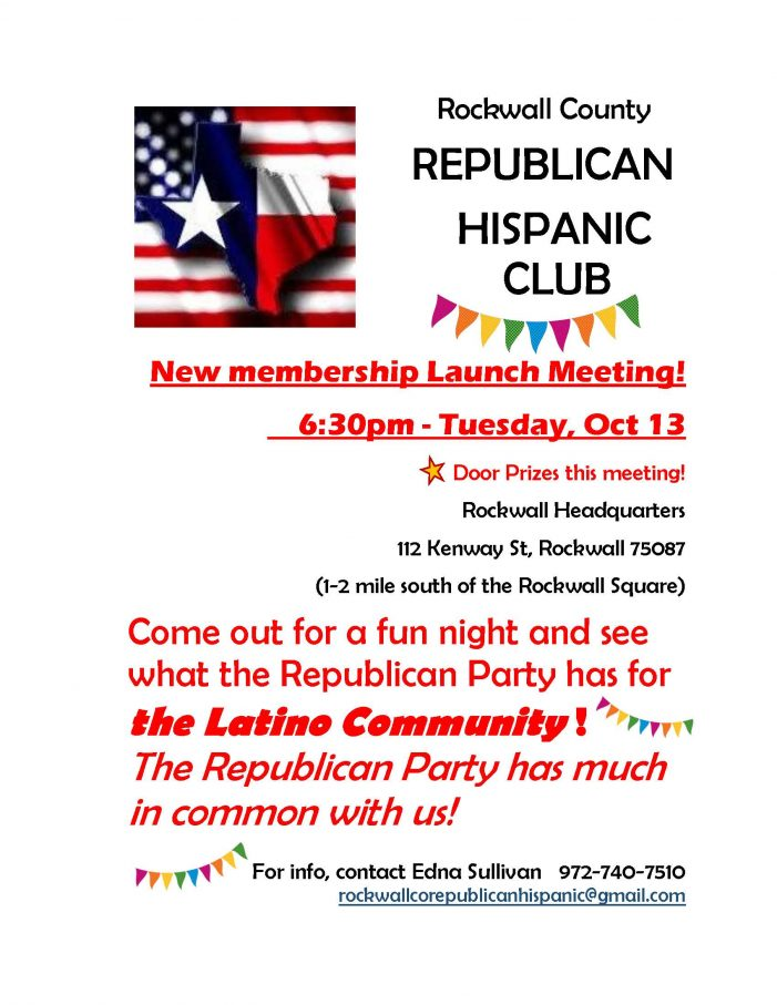Rockwall Republican Hispanic Club welcomes new members at launch meeting