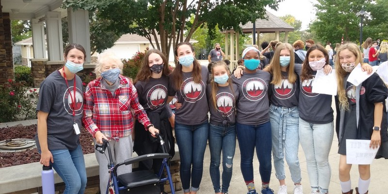 Heritage Christian Academy students visit Liberty Heights residents