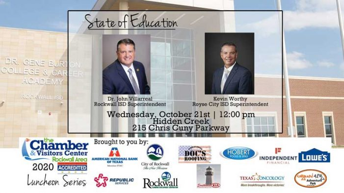 Rockwall Chamber to host State of Education Partnership Luncheon Oct. 21