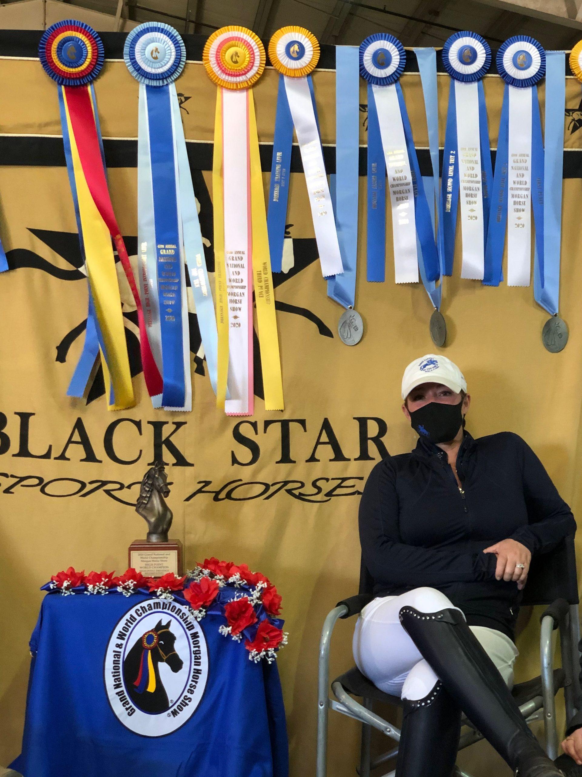 Jessica Blackmon-White of Black Star Sport Horses Rockwall