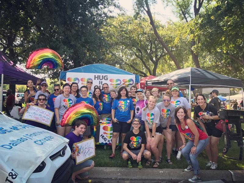 Hug It Out Dallas Pride event
