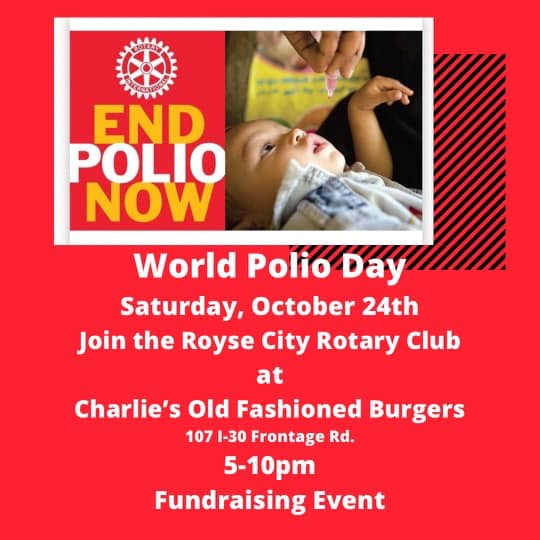 Community welcome as Royse City Rotary hosts fundraising event at Charlie's Old Fashioned Burgers