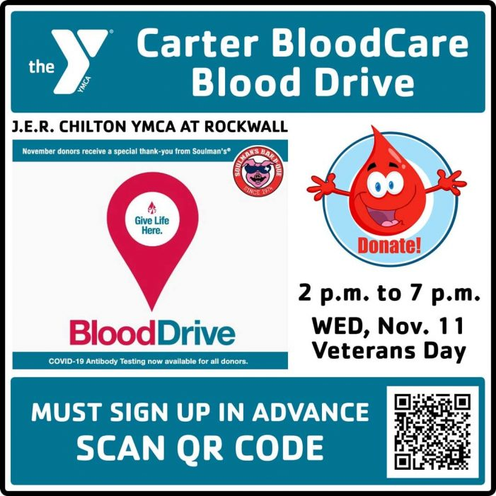 Rockwall YMCA steps up to host drive as blood center struggles to meet local patient needs