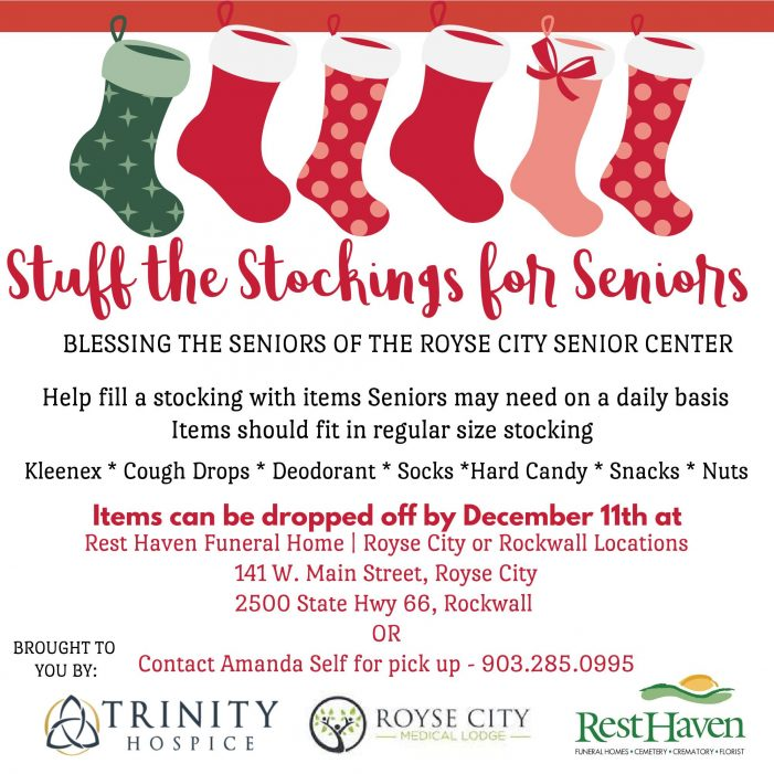 Rest Haven Rockwall, Royse City accepting donations for stocking stuffers for seniors