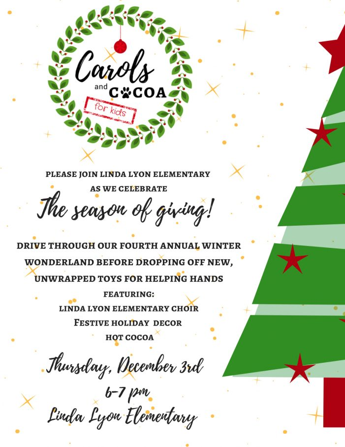 Rockwall's Linda Lyon Elementary to host drive-thru Carols & Cocoa for Kids