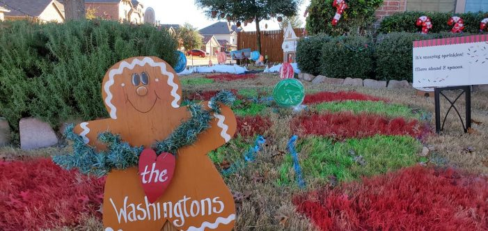 Woodcreek Fate family turns front yard into interactive Christmas Candy Land game