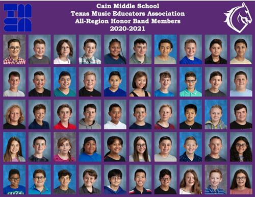 Rockwall's Cain Middle School band students set school record for All-Region Honor Band