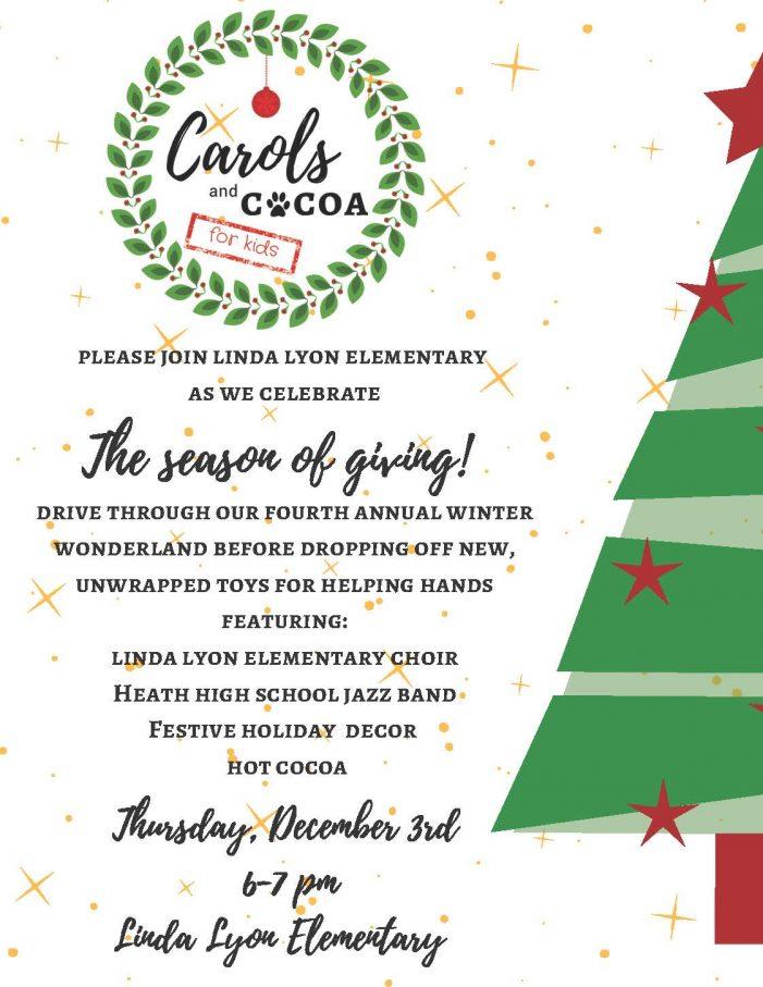 Linda Lyon Elementary to host drive-thru Carols & Cocoa for Kids