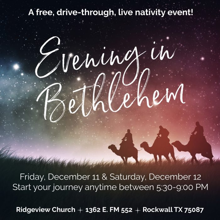 Community welcome for free, drive-thru nativity at Ridgeview Church