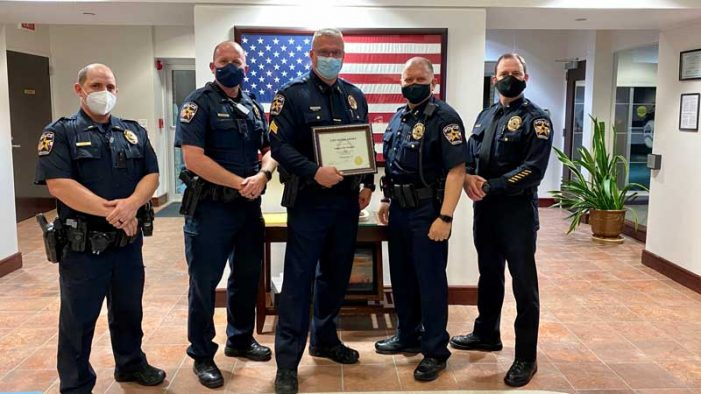 Rockwall Police Sergeant recognized with lifesaving award