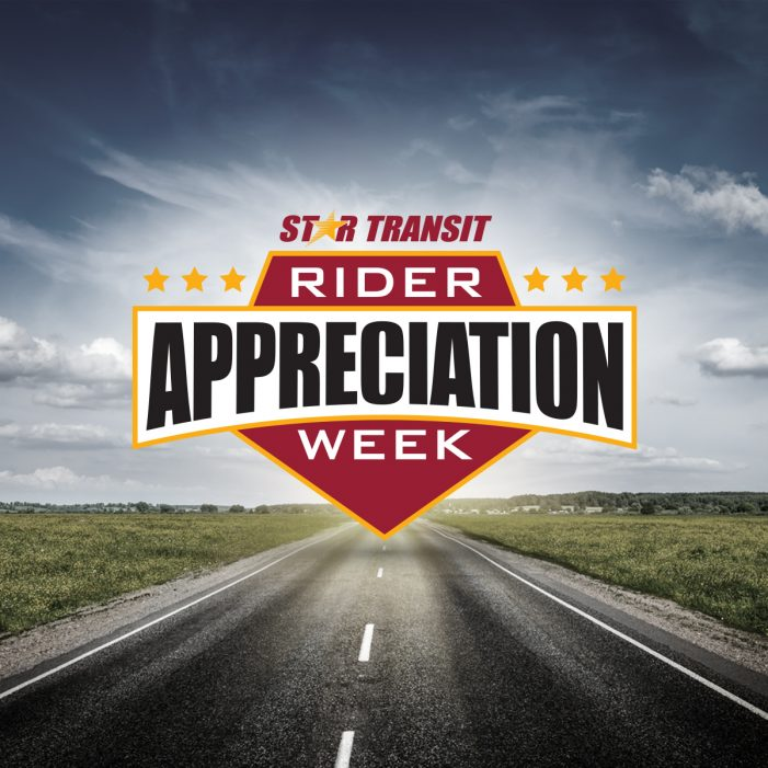 STAR Transit celebrates Rider Appreciation Week, November 9-14
