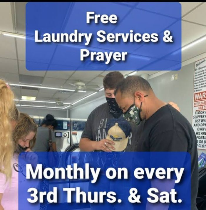 Rowlett's 5 Star Wash & Dry offers FREE self-serve laundry services and prayer