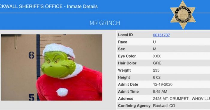 Rockwall police arrest The Grinch
