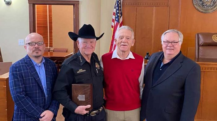 Rockwall County Commissioners Court recognizes retiring Sheriff, County Clerk