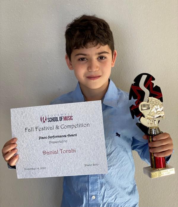 Piano - Beginner 1st Place: Danial Torabi