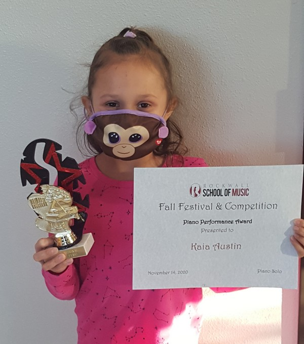 Piano - Late Beginner 3rd Place Kaia Austin