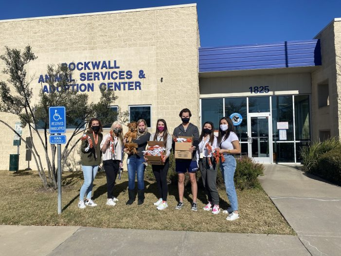 Rockwall High Student Council donates recycled T-shirt dog toys to animal shelter