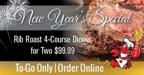 Ring in 2021 with Rib Roast Dinner for Two (To Go) from Dodie's Rockwall