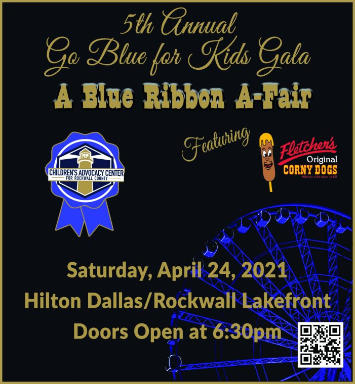 Save the date for a Blue Ribbon A-Fair benefiting Children's Advocacy Center for Rockwall County