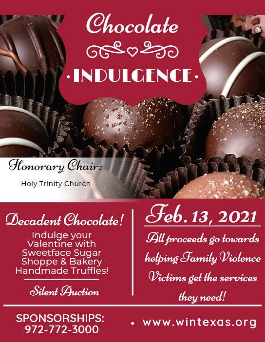Women in Need to host 8th Annual Chocolate Indulgence on Valentine's Weekend