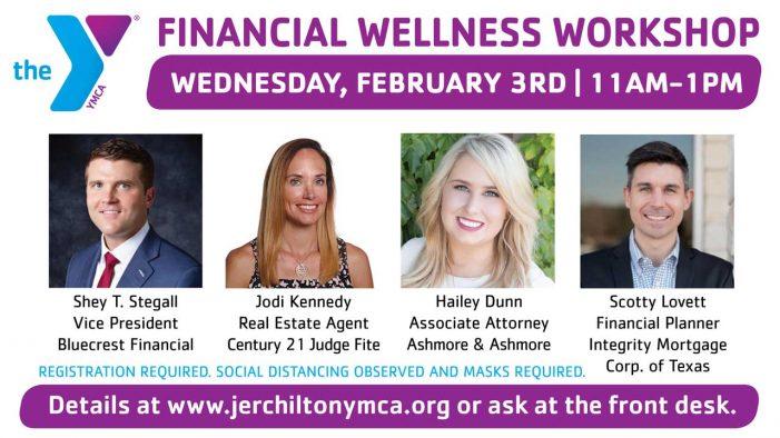 Free Financial Wellness Workshop at Rockwall YMCA Feb. 3