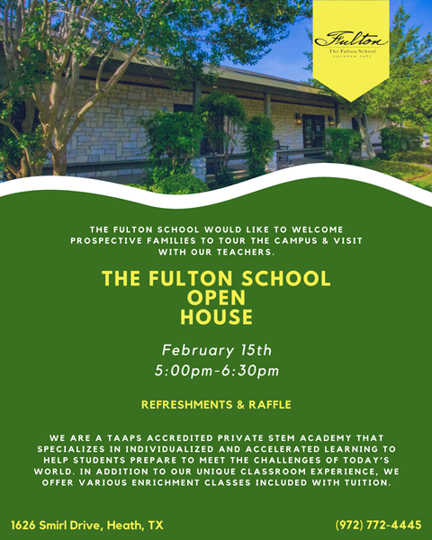RESCHEDULED TO FEB. 22 | Open House at The Fulton School of Heath