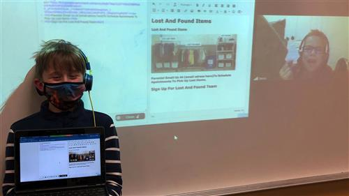 Stevenson Elementary School students build website to innovate school's Lost and Found