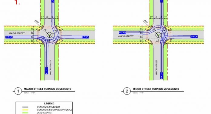 Traffic 'calming circles' on Lakeshore Dr. / Summit Ridge explained