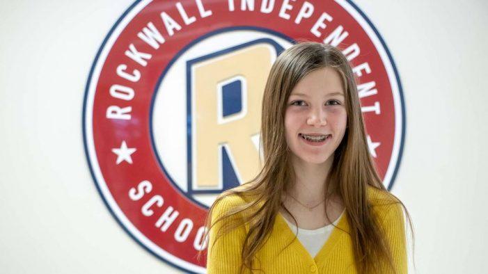 Utley Middle School student Emma Kern wins Rockwall County Spelling Bee