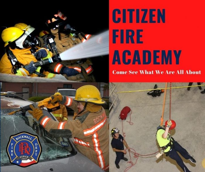 Registration underway for Rockwall Citizen Fire Academy