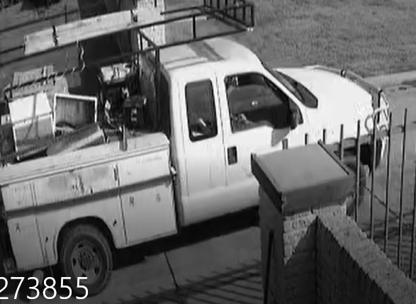 Rockwall County Sheriff's Offices shares security camera photos of theft of On Call Plumbing in Royse City