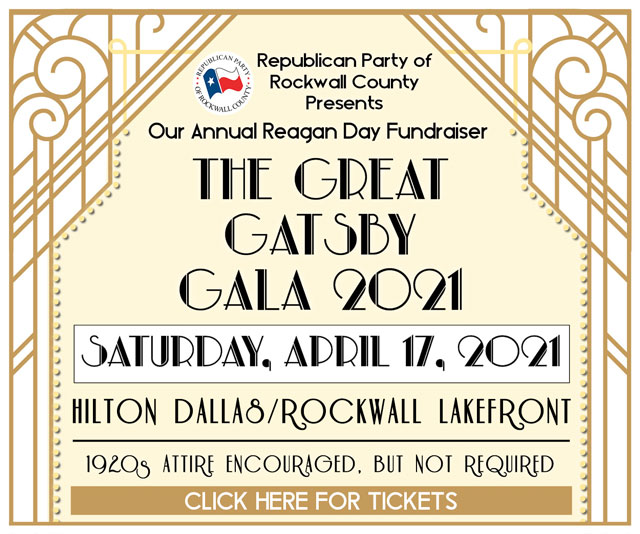 Tickets available now for Great Gatsby Gala, hosted by Republican Party of Rockwall County