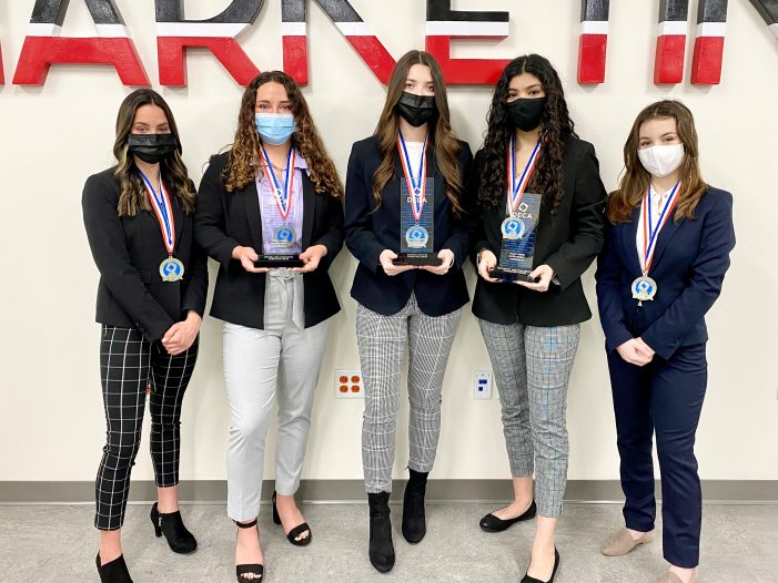 Five Rockwall ISD DECA students are State Finalists, three qualify for Internationals