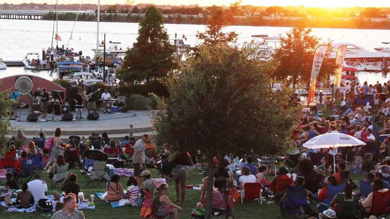 Concert by the Lake Music Series at the Rockwall Harbor