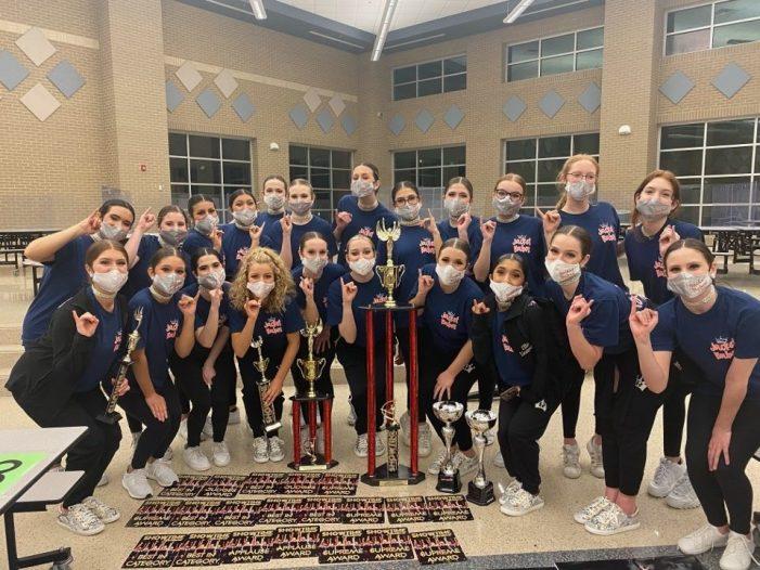 Rockwall High School JV Drill Team earn Grand Champion honors at Showtime International