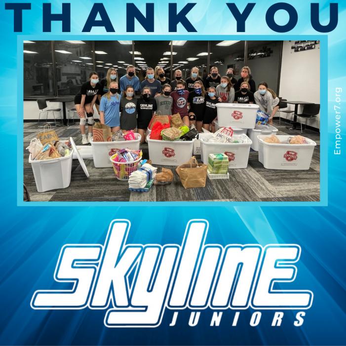 Skyline Juniors donates to Empower 7's Project Self Esteem
