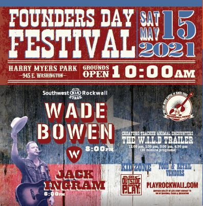 Rockwall Founders Day returns May 15 with headliner Wade Bowen