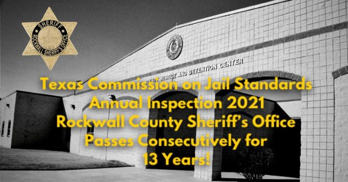 Rockwall County Sheriff's Office detention center, courthouse receives surprise inspection