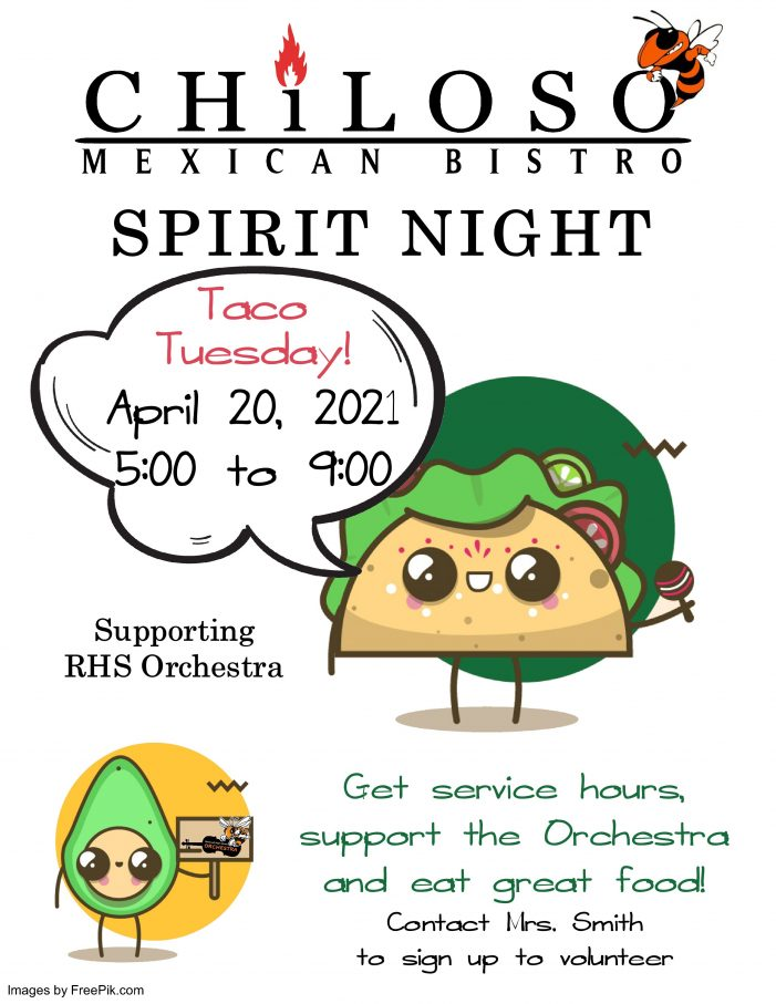 Taco Tuesday Spirit Night at Chiloso on April 20 for Rockwall High Orchestra