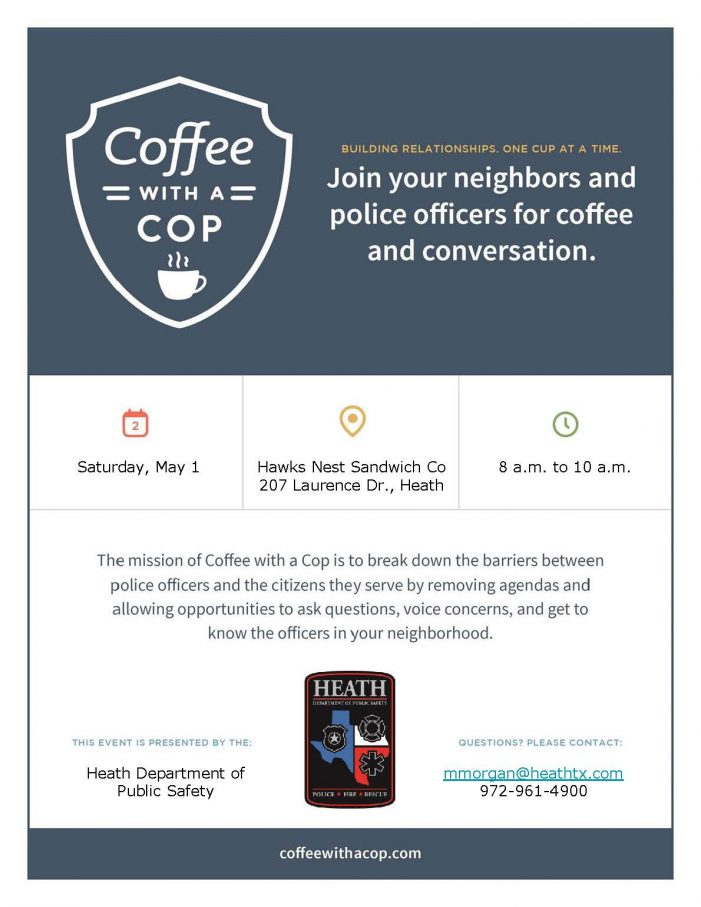 Heath DPS welcomes community to have 'Coffee with a Cop'
