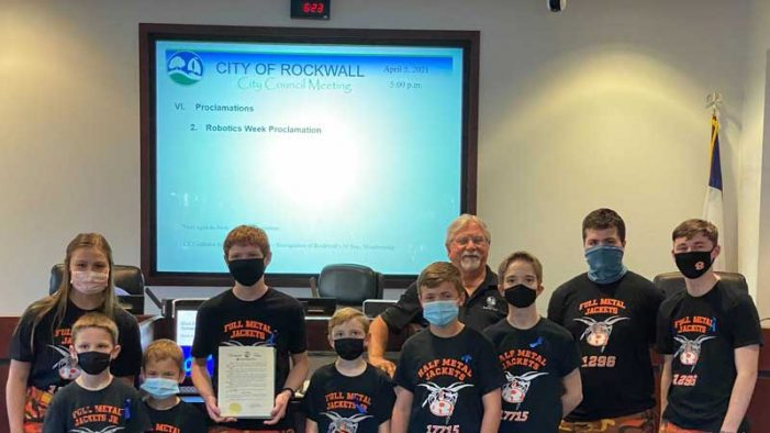 Rockwall city council recognizes Robotics Week