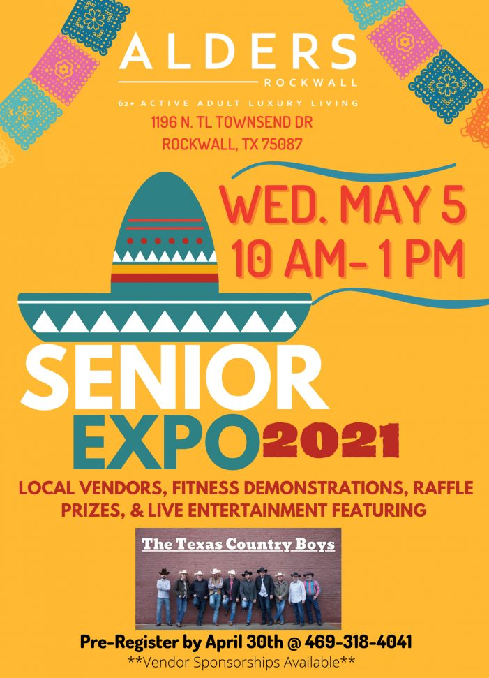 Alders, Rockwall's newest active adult luxury living facility, to host Senior Expo in May