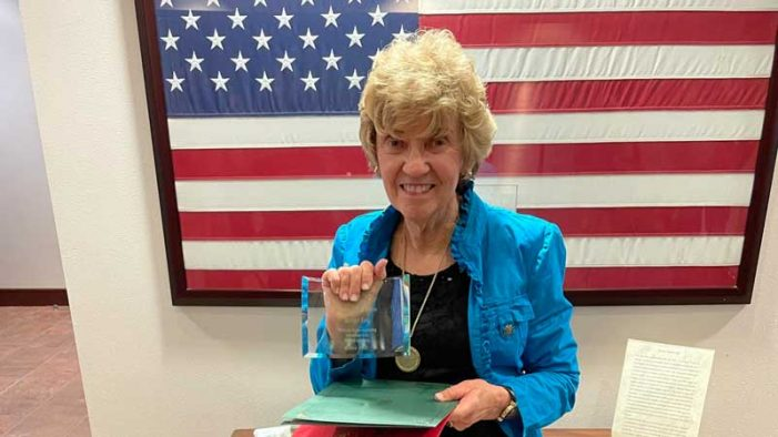 Rockwall city council honors longtime resident Marylin King with Hometown Hero award
