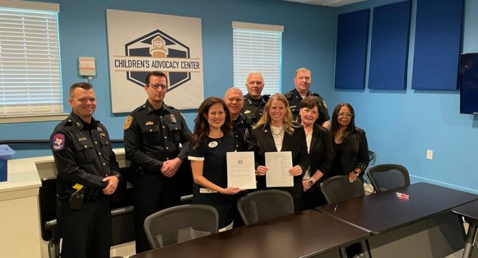 Children's Advocacy Center for Rockwall County welcomes local law enforcement for MOU signing ceremony