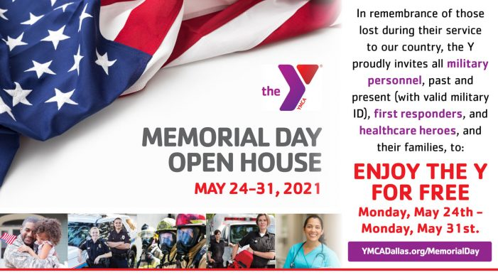 Memorial Week Open House at Rockwall YMCA: Military, first responders, healthcare and families invited to enjoy Y for FREE
