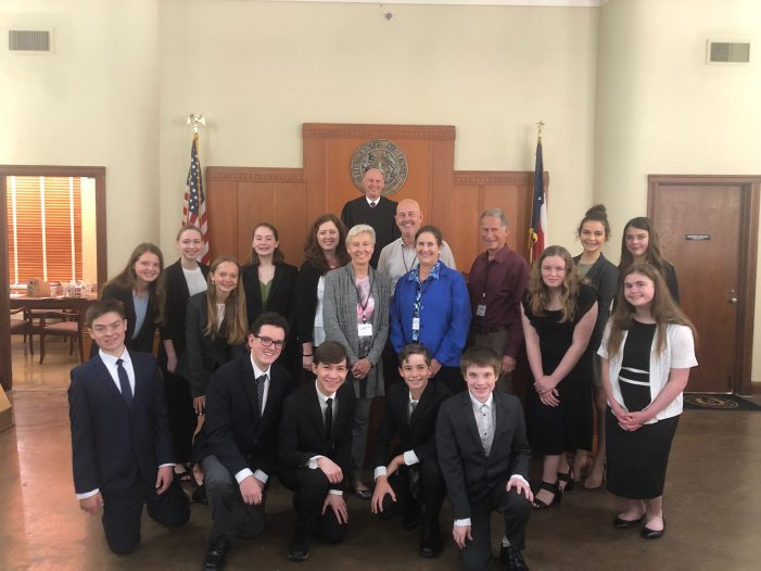 Students participate in mock trial at historic Rockwall courthouse