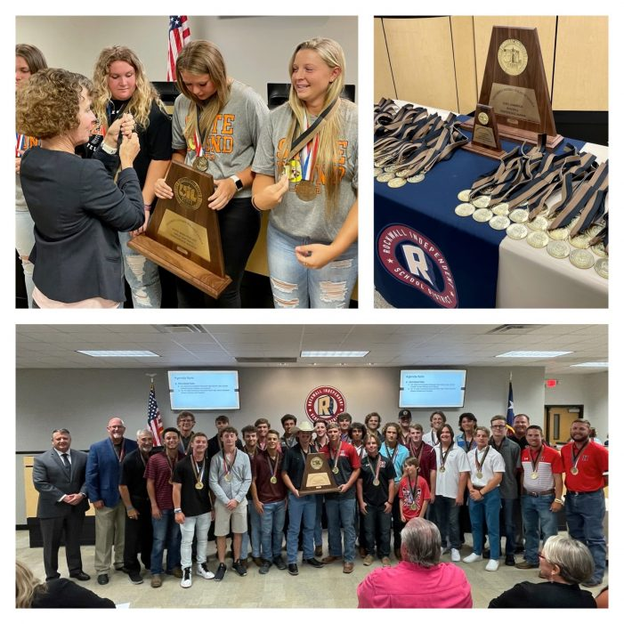 Rockwall ISD Board of Trustees: Principals named, champions recognized, operating budget adopted and more