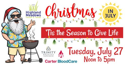 Christmas in July: Highland Meadows to host blood drive, community cook-out