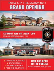 Royse City Fire Station No. 1 Grand Opening @ Royse City Fire Station No. 1