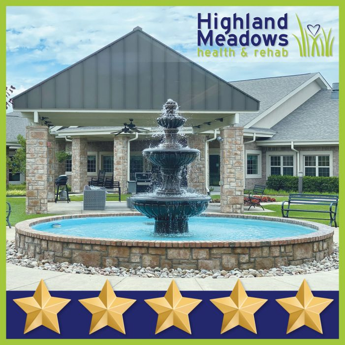 'Best Rehab Center' Highland Meadows earns 5 star quality rating